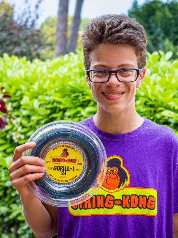 STRING-KONG T-shirt contratti con T-SHIRT di colore viola