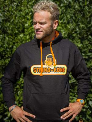 Felpa da tennis STRING-KONG CONTRAST HOODIE black/orange