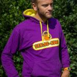 Felpa da tennis STRING-KONG CONTRAST HOODIE purple/yellow