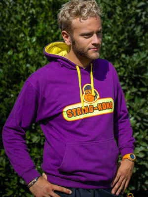 Felpa da tennis STRING-KONG CONTRAST HOODIE purple/yellow