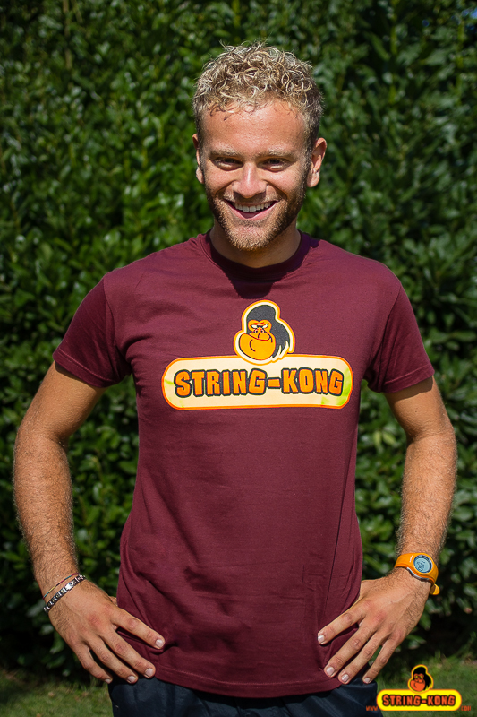 STRING-KONG T-SHIRT tennis bordeaux