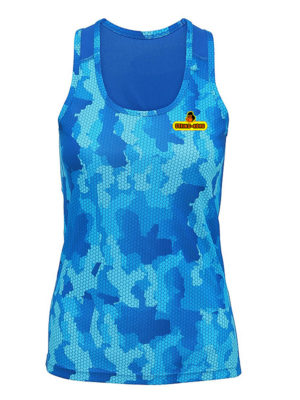 Jungle Tank String-Kong canotta azzurra